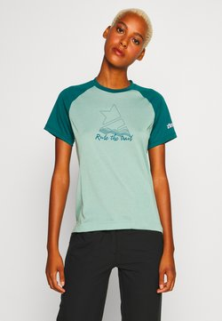 Zimtstern - PURE FLOWZ  - T-Shirt print - granite green/pacific green/blush