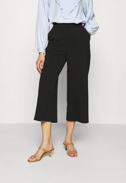 Anna Field - Wide leg cropped trousers - Pantalones - black