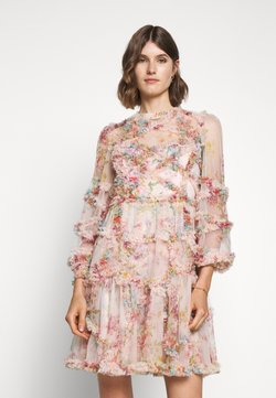 Needle & Thread - FLORAL DIAMOND RUFFLE DRESS - Cocktailkleid/festliches Kleid - topaz pink