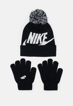 Nike Sportswear - POM BEANIE GLOVE SET - Fingerhandschuh - black