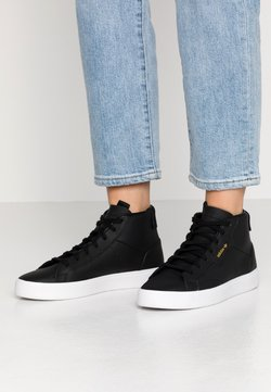 adidas Originals - SLEEK MID - Sneakers hoog - core black/crystal white