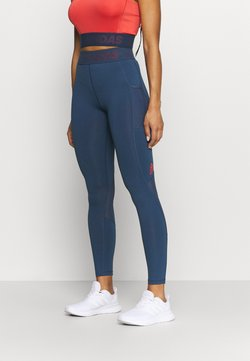 adidas Performance - Tights - navy/red