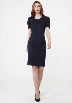 Madam-T - Etuikleid - blau schwarz