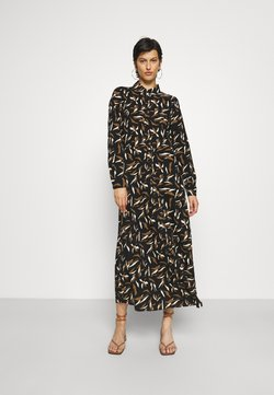 Object Tall - OBJLORENA LONG DRESS - Vestido largo - black/sepia/sandshell