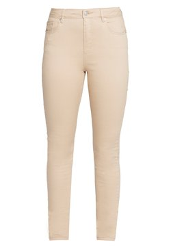 Vero Moda Tall - VMHOT SEVEN PUSH UP PANTS - Slim fit jeans - beige