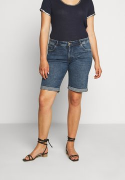 MY TRUE ME TOM TAILOR - Jeansshort - clean mid stone blue denim