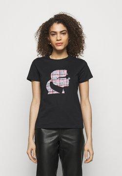 KARL LAGERFELD - BOUCLE PROFILE  - T-Shirt print - black