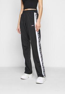 Fila Tall - TAO TRACK PANTS OVERLENGTH - Jogginghose - black/bright white