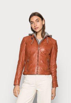 Gipsy - AMMY LACUV - Leather jacket - burned orange