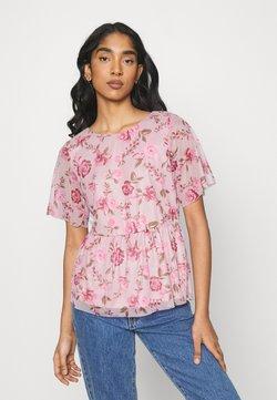 Vila - VIMIRANDA - T-Shirt print - cream pink/rose