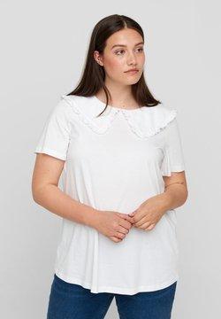 Zizzi - T-shirt con stampa - bright white
