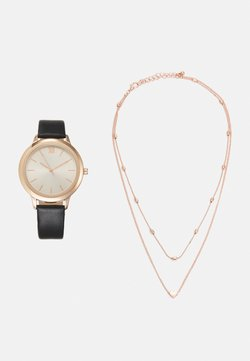 Even&Odd - SET - Montre - black/rose gold-coloured