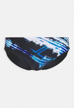 Arena - INFINITE STRIPE BRIEF - Bañador - black/neon blue/multi