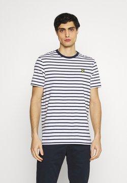 Lyle & Scott - BRETON STRIPE - T-Shirt print - navy/white