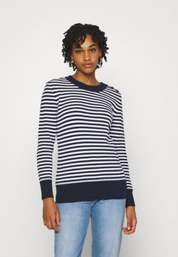 KnowledgeCotton Apparel - MYRTHE TIGHT O NECK - Strickpullover - total eclipse