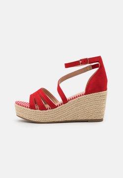 Anna Field - Korkeakorkoiset sandaalit - red