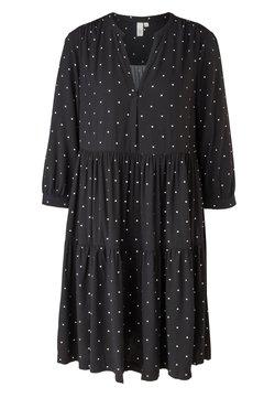 Q/S designed by - Korte jurk - black dots