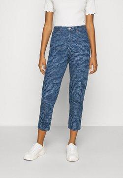 Monki - TAIKI PRINTED - Straight leg jeans - blue medium dusty