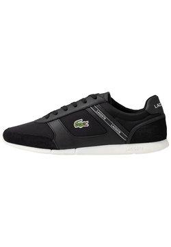 Lacoste - MENERVA SPORT - Sneaker low - black/white