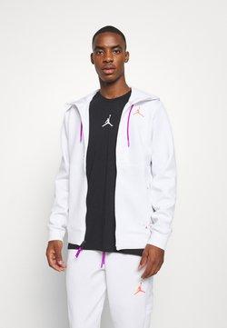 Jordan - AIR FLEECE FULL ZIP - Kapuzenpullover - white/vivid purple/infrared