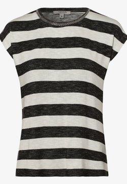 comma - T-Shirt print - schwarz ecru