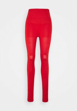 Casall - SEAMLESS BLOCKED - Tights - impact red