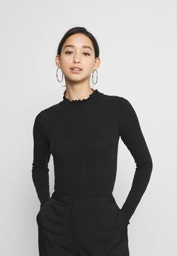 New Look - TURTLE NECK BODY - Langarmshirt - black