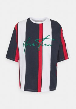 YOURTURN - UNISEX - Camiseta estampada - blue/red/white