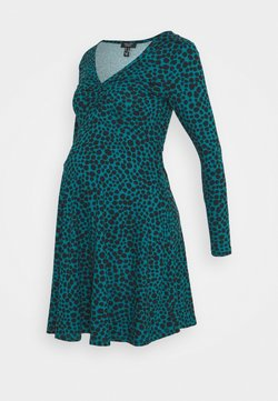 New Look Maternity - RUCHED FRONT DRESS - Vestido ligero - green
