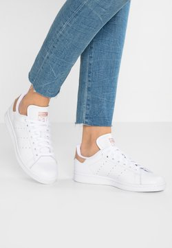 adidas Originals - STAN SMITH - Baskets basses - footwear white/rose gold metallic