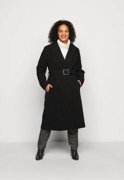 Dorothy Perkins Curve - CURVE BELTED WRAP COAT - Wollmantel/klassischer Mantel - black