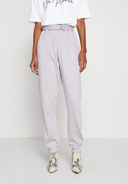 Missguided Tall - BELTED JOGGERS - Jogginghose - grey