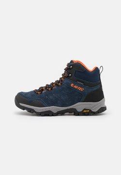 Hi-Tec - ENDEAVOUR WP - Hiking shoes - navy/black/orange