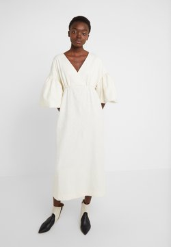 Mother of Pearl - VNECK DRESS WITH PUFF SLEEVE - Iltapuku - ivory
