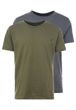 Replay - 2 PACK - Camiseta básica - military/cold grey