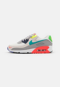 Nike Sportswear - AIR MAX 90 - Trainers - pearl grey/sport turqouise/summit white/black/solar red/lemon