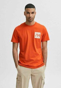 Selected Homme - T-shirt z nadrukiem - pureed pumpkin