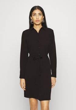 Vero Moda - VMSAGA COLLAR DRESS  - Skjortekjole - black