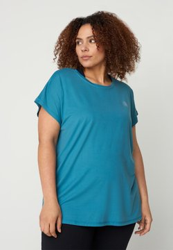 Active by Zizzi - T-Shirt basic - light blue