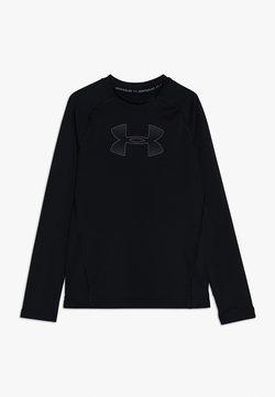 Under Armour - HEATGEAR LONG SLEEVE - Koszulka sportowa - black/pitch gray