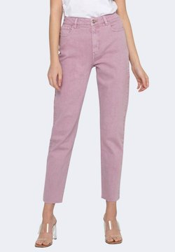 ONLY - EMILY LIFE HW ST RAW CRPANK - Jeans slim fit - lilac