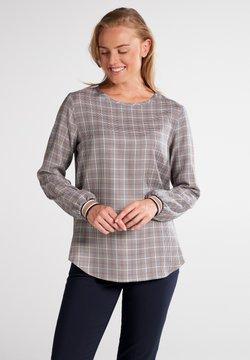 Eterna - MODERN CLASSIC - Bluse - marine/braun