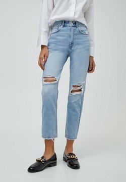 PULL&BEAR - MOM - Relaxed fit jeans - mottled light blue