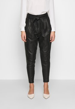 Copenhagen Muse - ROYAL ANKLE - Leather trousers - black