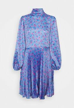 Closet - CLOSET HIGH NECK PLEATED DRESS - Cocktailkleid/festliches Kleid - blue