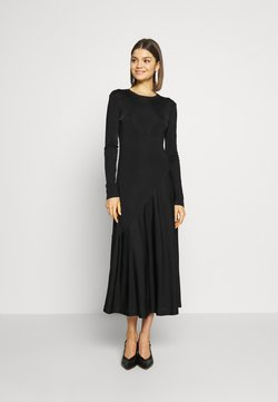 Weekday - KAREN DRESS - Vestito di maglina - black
