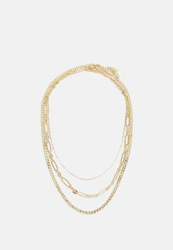 Orelia - SATELLITE OVAL FLAT CURB LAYERED ROW 3 PACK - Kaulakoru - pale gold-coloured