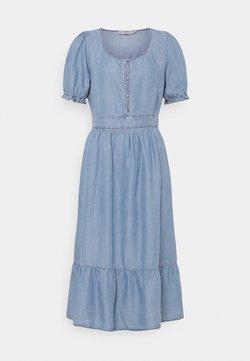 Cream - AMIRA FLOUNCE DRESS - Vestido largo - blue