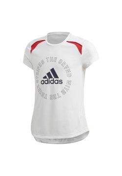 adidas Performance - BOLD AEROREADY T-SHIRT - Printtipaita - white