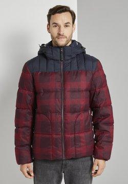 TOM TAILOR - MIT KAPUZE - Winterjacke - red printed check design